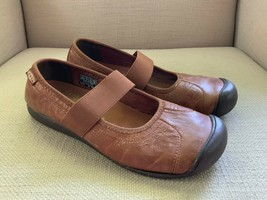 KEEN Sienna Brown Leather Mary Jane Flats US 9 - $23.05