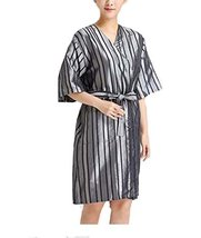 Beauty Salon Straight Strip Gown Robes Hairdressing Gown for Clients, Gray - €13,41 EUR