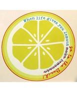 "Round Beach Towel DEKO KASSA When Life Gives You Lemons Microfiber, 60"" ... - $35.14"