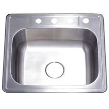 Gourmetier Studio GKTS25228 Self Rimming Single Bowl Sink, Satin Nickel  - $77.17