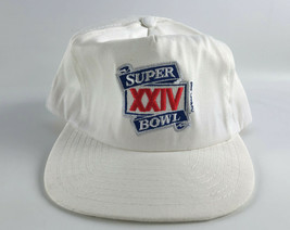 Super Bowl XXIV (24) Snapback Baseball Hat White ANNCO Vintage Broncos 4... - $19.79