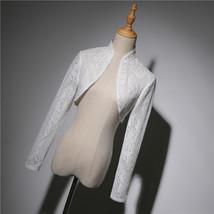 Champagne Gold Lace Wedding Shrugs Boleros Short Sleeve Wedding Guest Cover Ups image 9