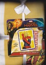 Marvel Captain Marvel No Sew Fleece Throw Kit - $24.95