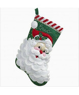 Bucilla Felt Stocking Kit, Jolly Saint Nick, 18in embroidery, XMAS, Christmas - $27.49