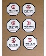 6 - VECTOR SECURITY Window Decals - $8.99