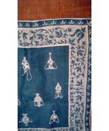 Faith Austin Kimball Blue Handkerchief NWT Urn Print  - $28.00