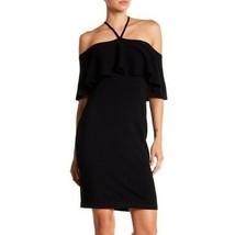 Vince Camuto | Black Cold Shoulder Halter Knit Sweater Dress S - $21.78