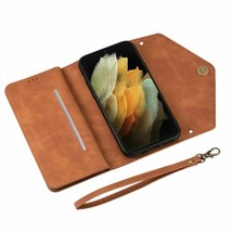 Leather Wallet Magnetic flip back cover Samsung S20FE S21 S10 S9 S8 S7 A51 A715G - $68.89