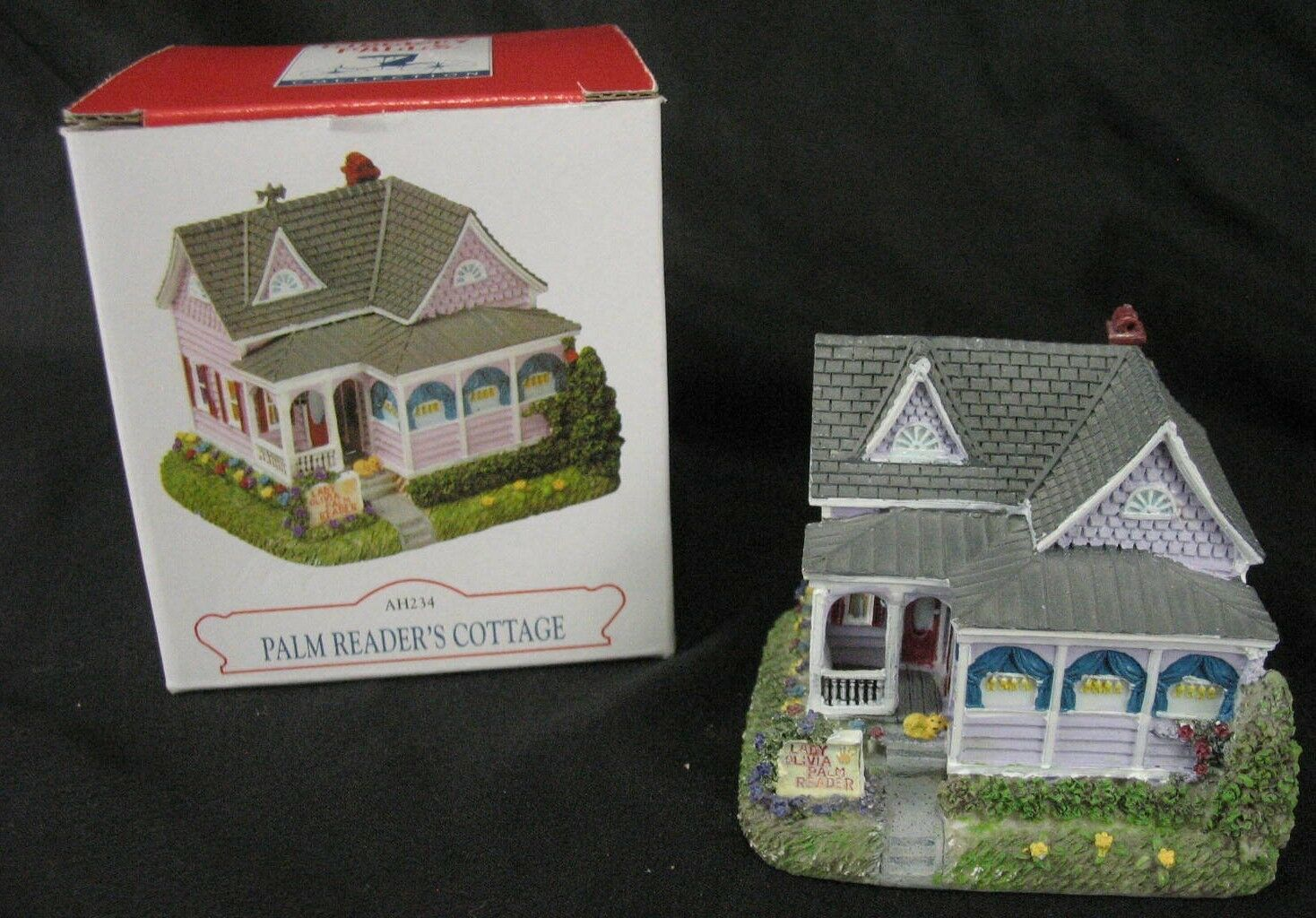 Liberty Falls Collection Palm Readers Cottage  Handpainted Americana Figurine