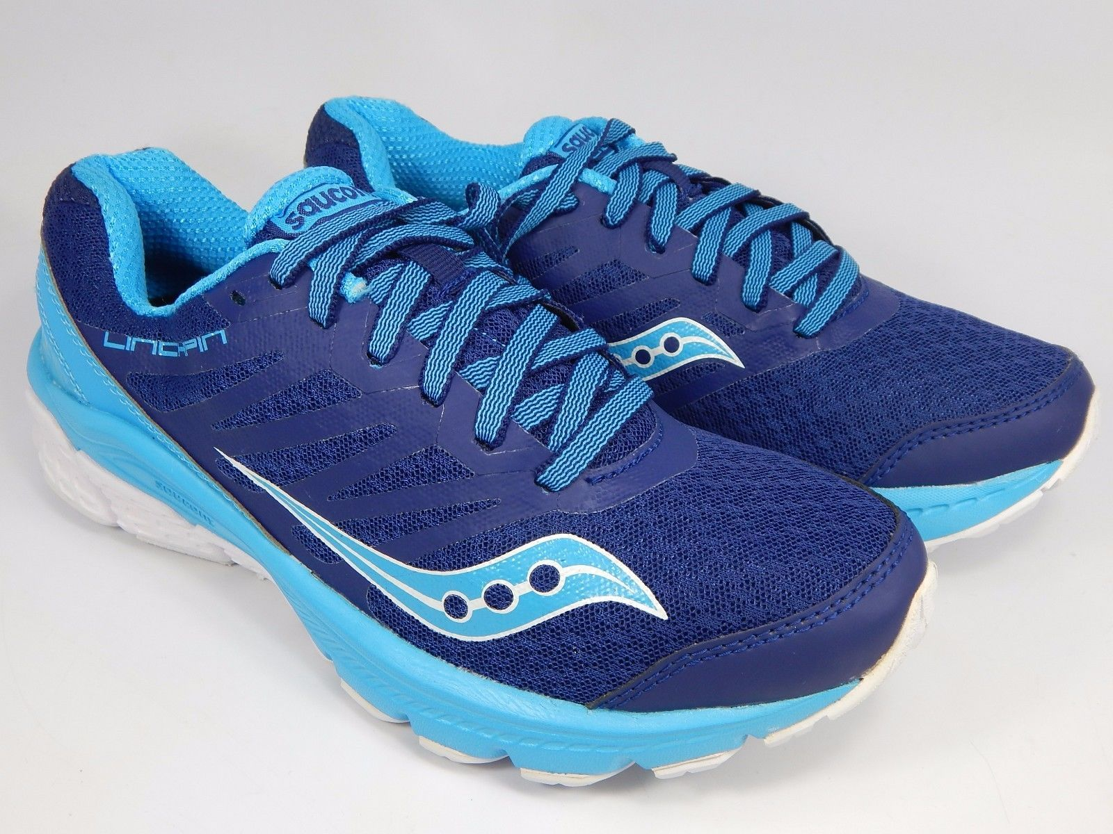 Saucony Linchpin Women's Running Shoes Size US 7 M (B) EU 38 Blue White S15334-3