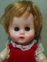Ginny Baby Doll  Drinks Wets Red Hair Blue Eyes - $8.59