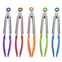 BBQ Clip Kitchen Tongs Salad Bread Cooking Food Serving Tongs Kitchen Tools - $2.99