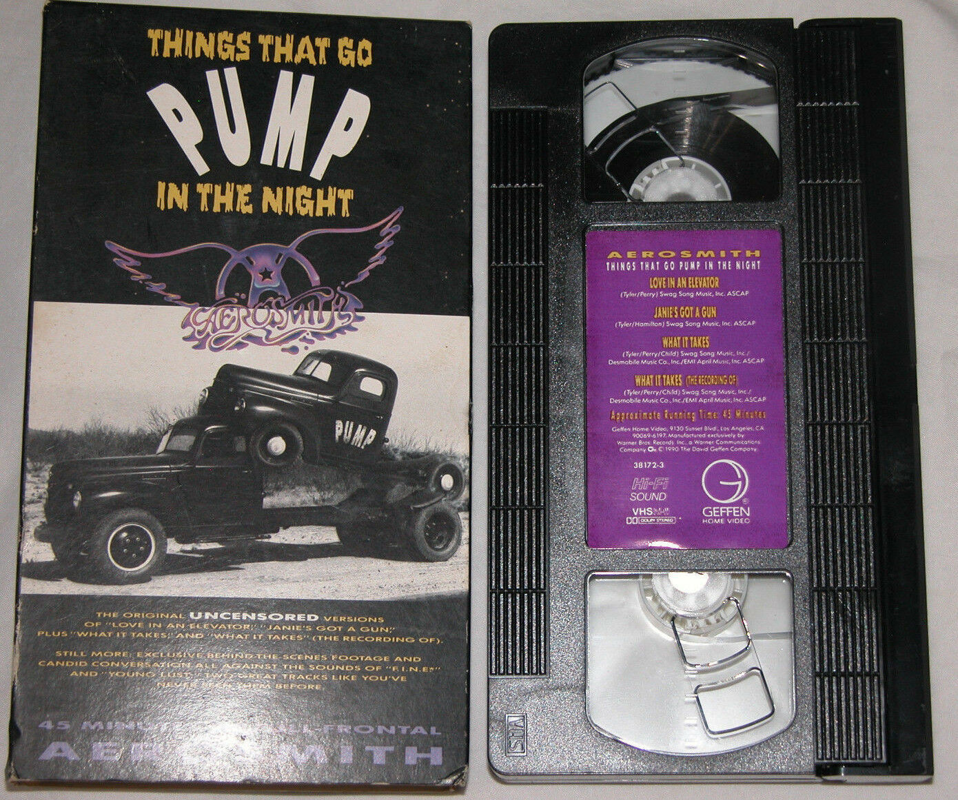 Primary image for Aerosmith Things che Go Pompa in The Night VHS 1990 Original Uncensored Versioni
