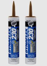 2~ DAP DYNAFLEX 230 CEDAR TAN Silicone Door Trim Window Sealant 10.1 oz.... - $21.19