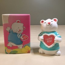 Vintage Avon BEARY CUTE BEAR PHOTO BANK CERAMIC- New Old Stock- Very Cute - $7.91