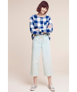 NWT ANTHROPOLOGIE CHINO SKY CROPPED WIDE-LEGS PANTS - $67.99