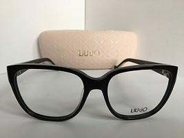 New Elegant LIU JO LJ 2609 LJ2609 001 Black 52mm Rx Women's Eyeglasses Frame  - $99.99