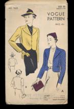 1940s Vogue 7625 Short Box Jacket - $12.95