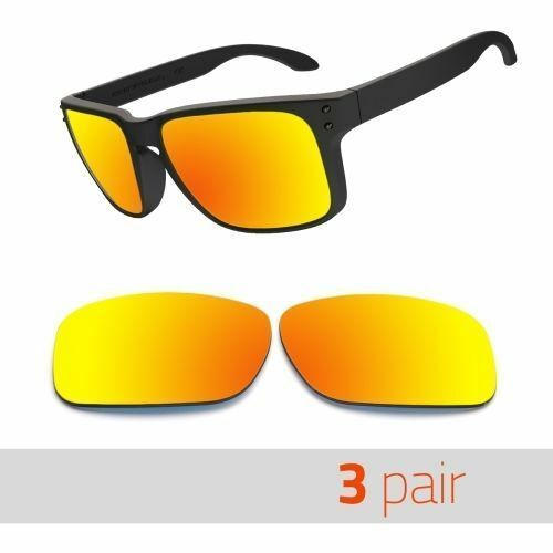 3 Pair Optico Replacement Polarized Lenses for Oakley Holbrook Sunglasses Red