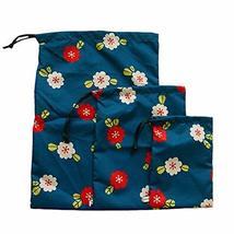 PANDA SUPERSTORE [Floral] Outdoor Waterproof Drawstring Dry Bags/Storage Bags,3P