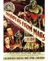 *INVADERS FROM MARS (1953) Green Aliens Insect Eyes One-Sheet Movie Post... - $15.00