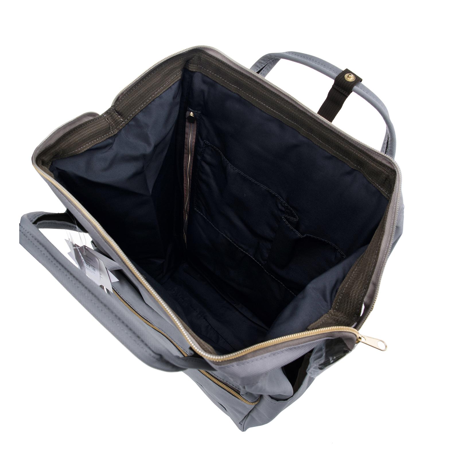 Anello Official Japan Light Grey Regular Backpack Rucksack Diaper Travel Bag image 7