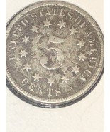 1869 Shield Nickel no Rays - $14.99