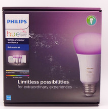 Philips Hue White & Color Ambiance E26 3 Bulb LED Starter Kit (3rd Gen) (556704) - $159.99
