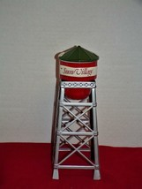 "Department 56 Snow Village Water Tower. Retired, porcelain & metal, 11"" ... - $17.64"