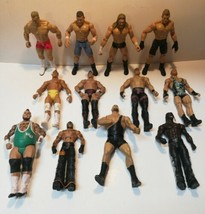 Lot Of 12 Jakks Pacific & Mattel WWF/WWE Wrestling Figures 1999-2012 Titan Tron - $59.40