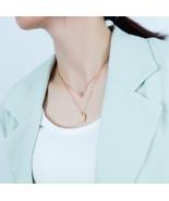 Titanium steel lettering square pendant and round inlaid zircon multilay... - $30.00