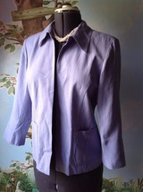 Coldwater Creek Lilac 3/4 Sleeve Open Front Suit Jacket Blazer SZ Small - $28.30
