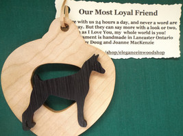 Doberman Ornament personalized with your dog's name, Customized dog orna... - $12.00