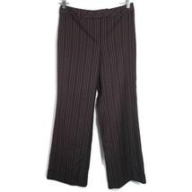 Ann Taylor Loft Dress Pants Women Petites Size 10P Brown Tan Pinstripe W... - $19.79