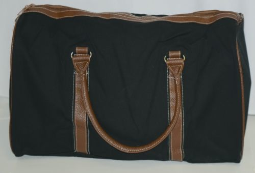 Mainstreet Collection CDBK1588 Canvas Duffle Bag Colors Black and Brown