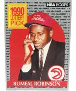 1990 NBA Properties NBA Hoops Atlanta Hawks Rumeal Robinson Lottery Pick  - $1.53