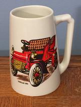 HYALYN - 1904 CADILLAC - Vintage Classic Car Cream Pottery Mug Beer Stein - $15.47