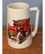 HYALYN - 1904 CADILLAC - Vintage Classic Car Cream Pottery Mug Beer Stein - $15.47
