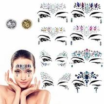 Face Gems - BRT 8 Packs Face Jewels Crystal Face Stickers Glitter Rhinestone Adh - $18.34