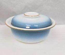 Nikko Gradiance Cereal Soup Bowl Lid Set of 4 Azure Leafette Dish Microwave Safe image 3