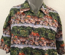Reyn Spooner Guy Buffet Boat Harbor Hawaiian Shirt Sz Large Fisherman Do... - $52.76
