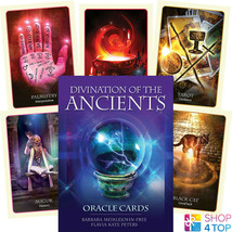 DIVINATION OF THE ANCIENTS ORACLE CARDS DECK ESOTERIC FORTUNE TELLING BL... - $32.56