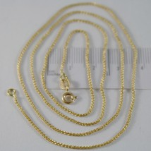 SOLID 18K YELLOW GOLD SPIGA WHEAT EAR CHAIN 24 INCHES, 1.2 MM, MADE IN ITALY image 1