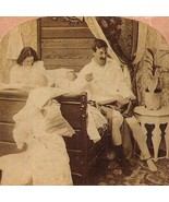 1897 TRIALS OF MARRIED LIFE Antique Stereograph sepia sepia real photo v... - $11.78