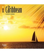 The Caribbean 2018 7 x 7 Inch Monthly Mini Wall Calendar, Travel Nature ... - $11.79