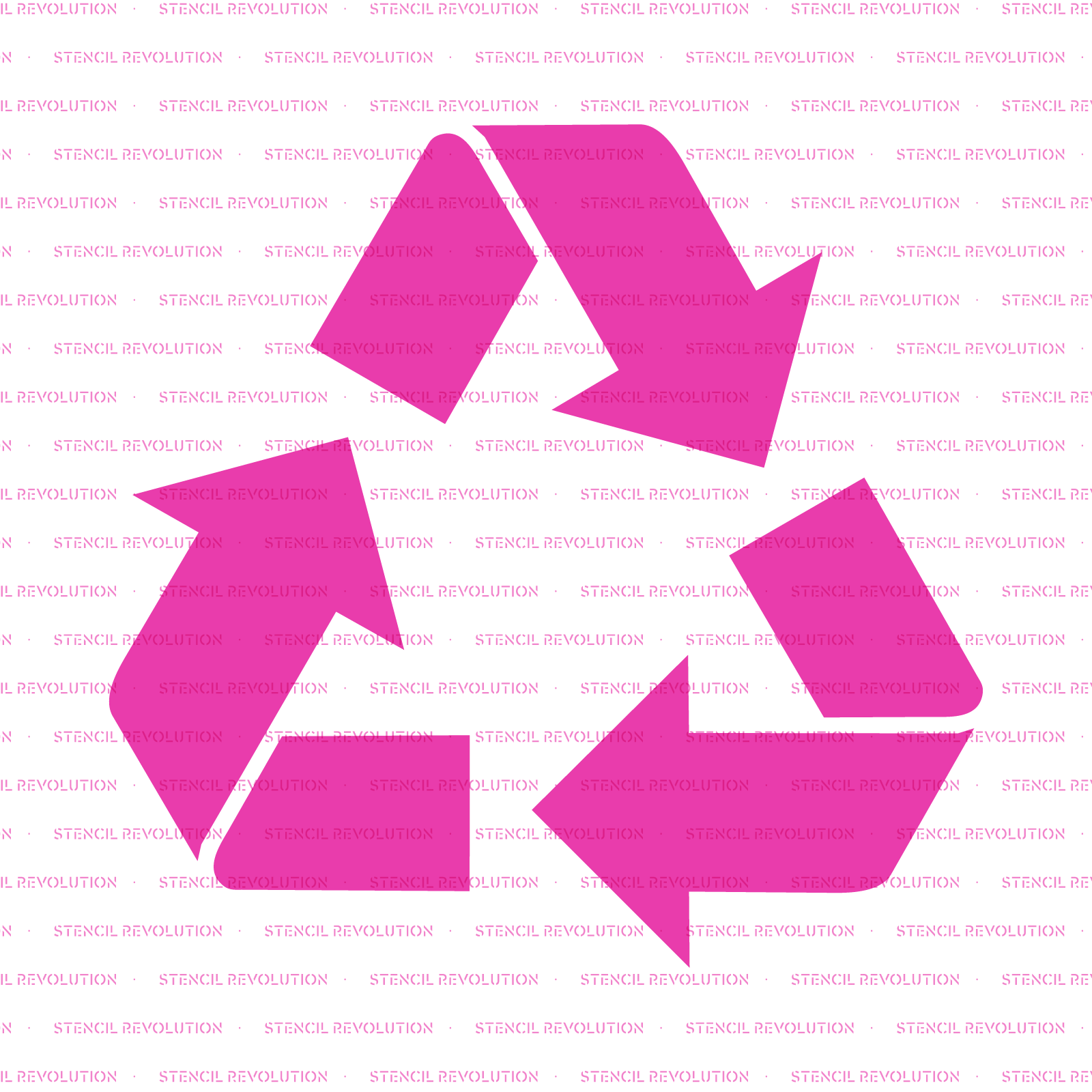 Recycle Stencil - Reusable Stencils of Recycle in Multiple Sizes