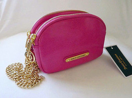 NWT $119 Juicy Couture Double Zip Crossbody Bag, Pink Magenta, Great Gift - $65.00