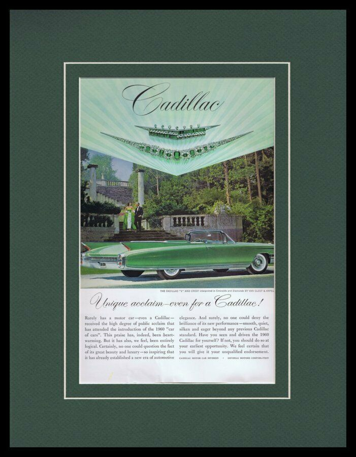 Primary image for 1960 Cadillac Framed 11x14 ORIGINAL Vintage Advertisement