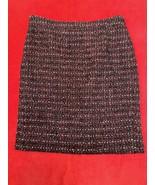 Jcrew The Pencil Skirt Maroon Boucle Women's Size 6 - $16.04