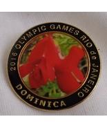 Dominica Rio de Janiero 2016 Brazil  Olympic Pin Pinback Caribbean colle... - $8.54